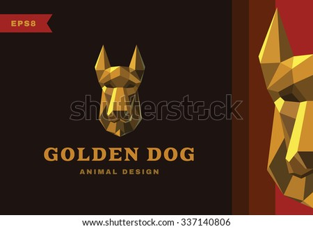 vector logo golden dog