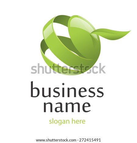 vector logo green apple