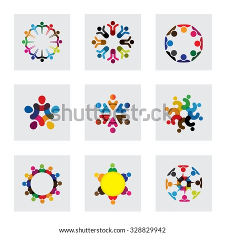 vector logo icons of people