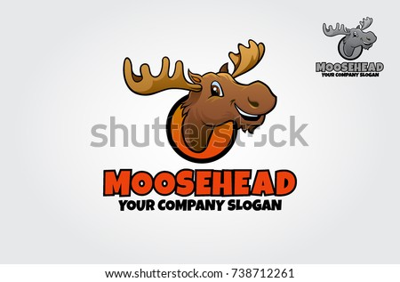 Vector logo illustration of the mighty moose.