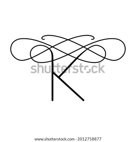 Vector logo in the form of the letter K. Elegant emblem with a unique letter K. Stock fotó ©