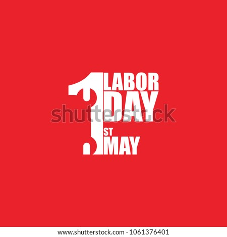Vector logo. International Labor Day. Labor day. The first of May