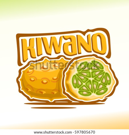 vector logo kiwano fruit  still