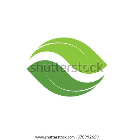 vector logo leaf nature icon