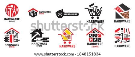 Vector logo of a building materials store Foto stock ©