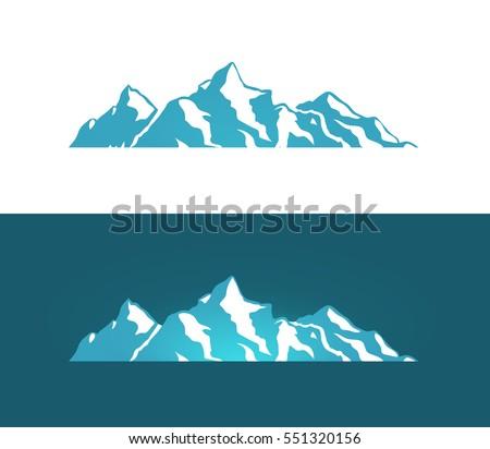 vector logo of alps mountains