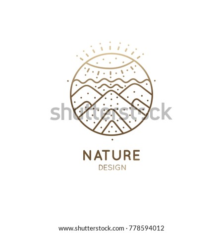 vector logo of nature abstract