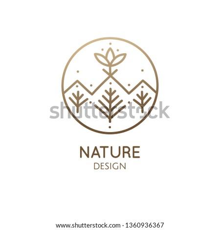 vector logo of nature geometric