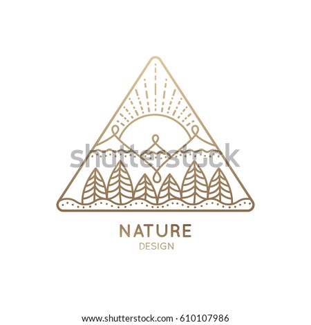 vector logo of nature on white