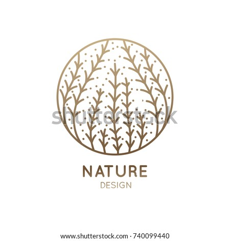 vector logo of seaweed elements