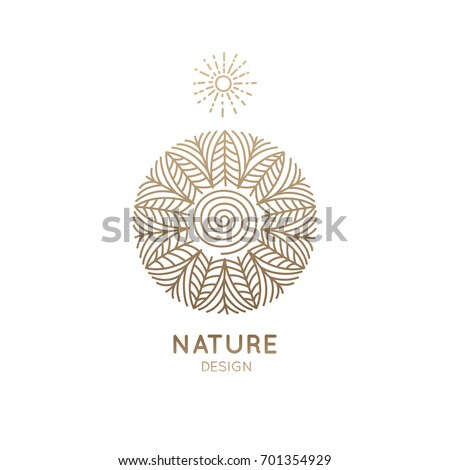 vector logo pattern of nature