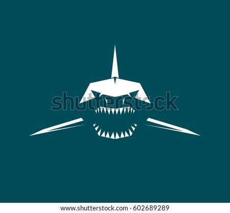 vector logo  sharks profile