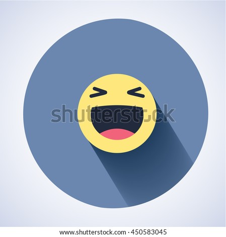 vector logo smile face sign