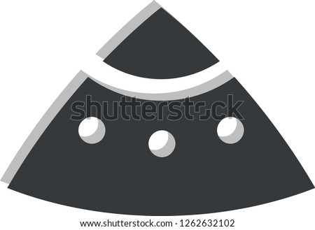 Vector logo spacecraft on a white background.