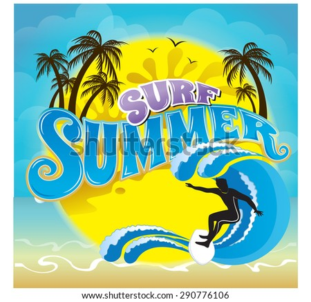 vector logo summer holiday and