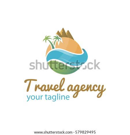 vector logo template for travel