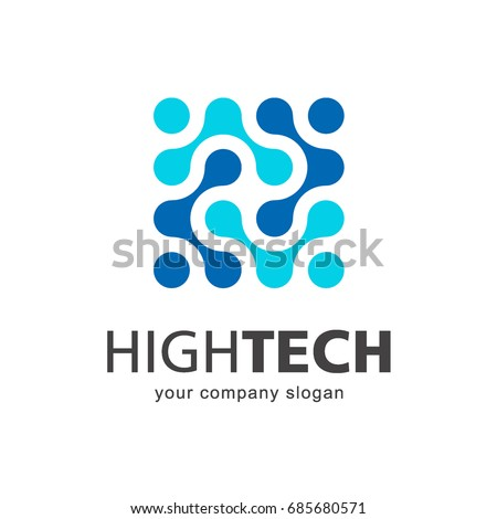 Vector logo template. High technology. Nano technology