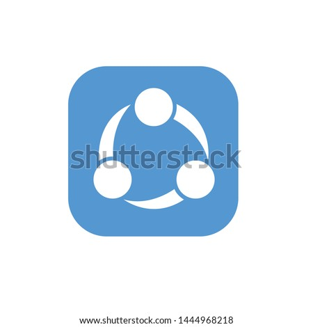 vector logo template icon Users can use SHAREit to transfer files including photos