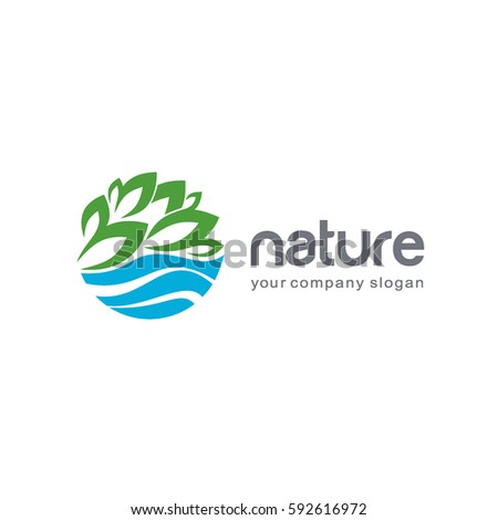 Vector logo template. Nature design