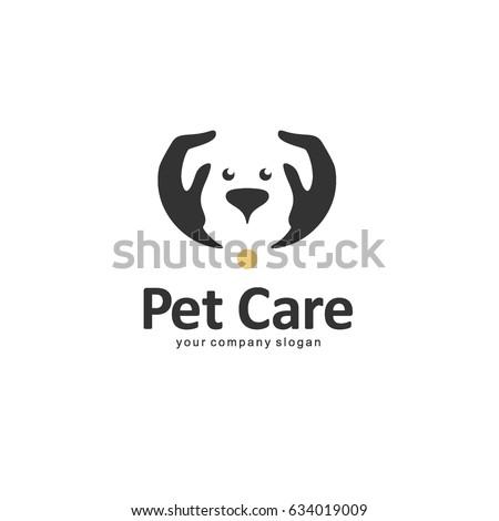 Vector logo template. Pet care