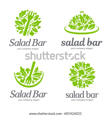 Vector logo template. Salad bar