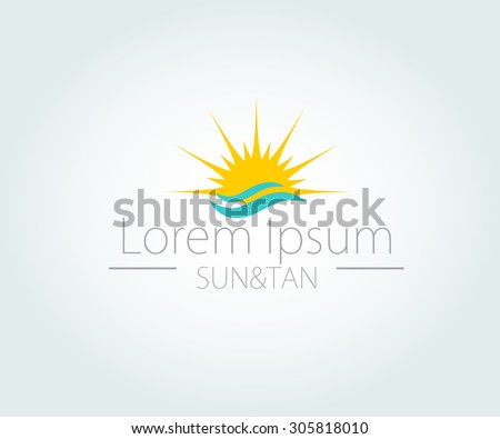 vector logo with yellow sun
