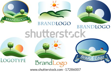 vector logos for various brands (text is in separate layer)