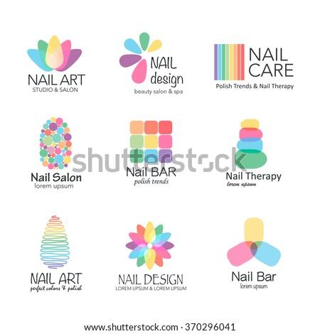 vector logotype design for nail salon, studio, bar, spa, boutique  nail