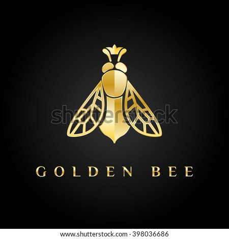 vector logotype golden bee