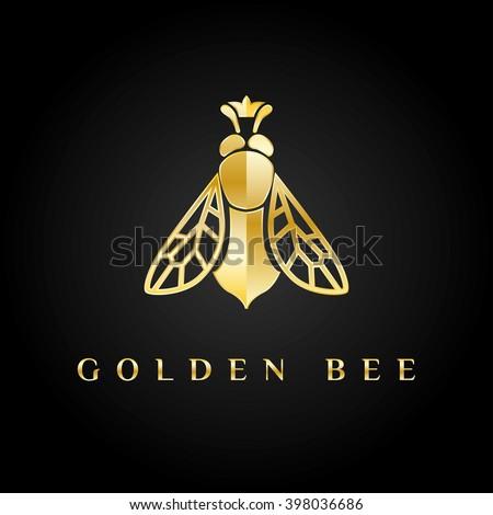 vector logotype golden bee