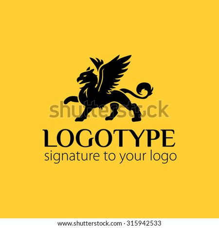 stock-vector-vector-logotype-or-illustration-griffin-on-yellow-background
