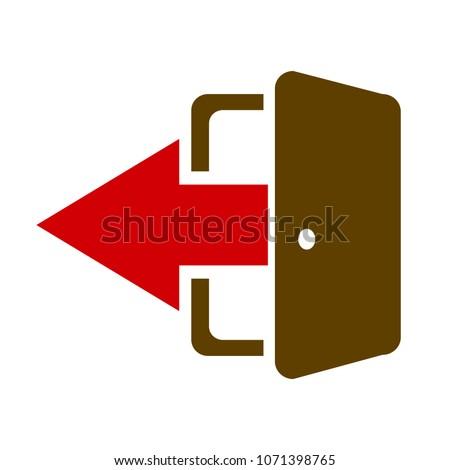 vector logout icon   exit sign...