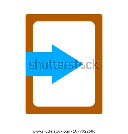 vector logout icon - exit sign or register logout button - Sign out button. Export document concept