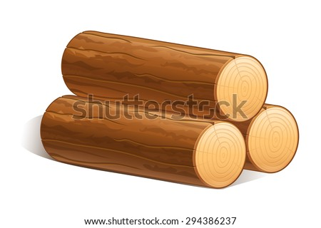 vector logs of fire wood