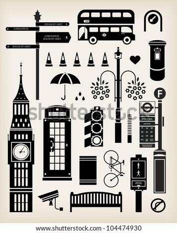 vector london city street icon