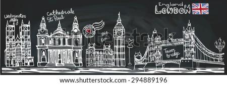 vector  london landmark