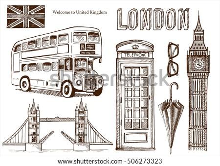 vector london landmark symbols