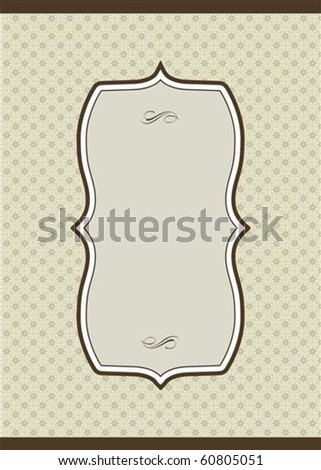 Vector long frame and ornate pattern. Perfect as an invitation or announcement.  Pattern is included as seamless swatch. All pieces are separate.