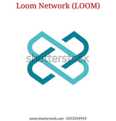 Vector Loom Network (LOOM) digital cryptocurrency logo. Loom Network (LOOM) icon. Vector illustration isolated on white background.
