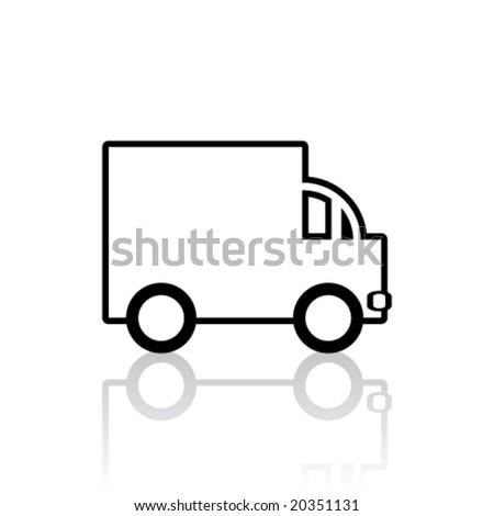 Vector Lorry/Van Icon (Design 2 of 3)