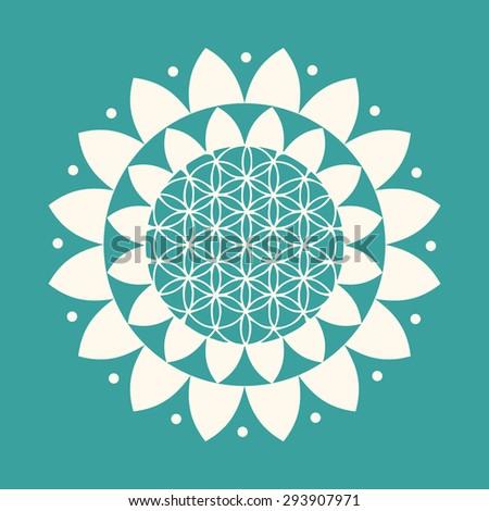 vector lotus mandala with