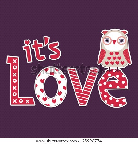 vector love card or poster