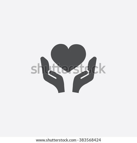 Vector love care Icon