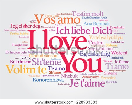 I love you more in different languages