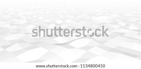 Vector low-poly, polygonal background for web. Digital illustration. 3D design template. White and grey colors. Achromatic abstract fond. Horison. White line. Ligh fond. Neutral noisy backdrop.