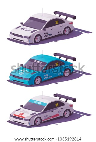 vector low poly touring racing