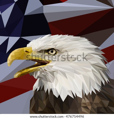 vector low poly with eagle head