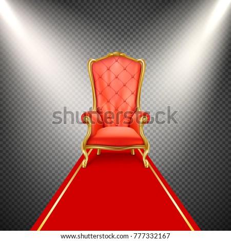 vector luxurious gilded throne