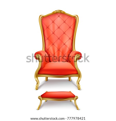 vector luxurious red throne
