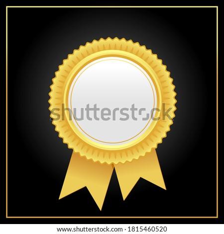 Vector luxury golden award rosette.Golden rosette illustration from golden award rosette collection. Stockfoto ©